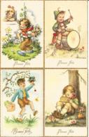 4 Cpa Bonne Fête Illustrateur Mariana (2x) ,enfants, - Otros