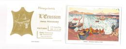 Calendrier ,petit Format ,1972 , Maroquinerie L'ECUSSON ,James Pougnard ,Poitiers, Vienne, 2 Scans - Klein Formaat: 1971-80