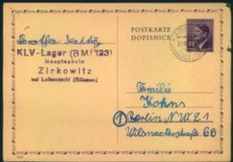 1944, Ganzsachenkarte Aus Dem KLV-LAGER Zirkowitz B. Leitomischl (Böhmen) - Deutschland