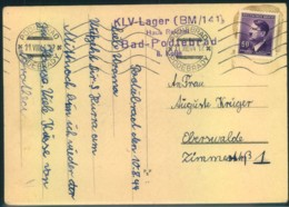 "1944, Postkarte Aus Dem"" KLV-LAGER  Bad Podiebrad"" (Podebrady) - Alemania"