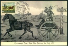 1952, BUND AK Postkutsche Mit Mi-Nr. 160 Und Sonderstempel - Journée Du Timbre