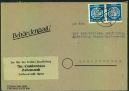 1954, Behördenpost Aus BALLENSTEDT Zum Alten Porto Mit 2-mal 12 Pfg. Hammer/Zirkel - [6] République Démocratique