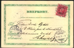 """1900, Picture Card Showing """"Kongl. Teatern"""" With Ship Mark """"TRELLEBORG-SASSNITZ"""" To Switzerland - Sin Clasificación"""