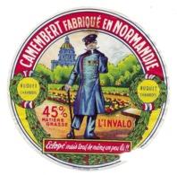 ETIQUETTE De FROMAGE...CAMEMBERT Fabriqué En NORMANDIE..L'Invalo. Eclopé ...BUQUET à CHAMBOIS ( Orne 61) - Fromage