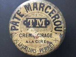 Boîte Ancienne Pâte Marcerou TM Crème Cirage à La Cire Levallois Perret - Boîtes