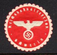 GERMANY WW2 3RD THIRD REICH REICHSBANKDIREKTION SCHWERIN BANK MANAGEMENT DIRECTORATE SIEGELMARKE NAZI GERMAN SEAL MARQUE - Cartas