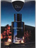CARTE PARFUMÉE ÉCHANTILLON NEUF SAUVAGE - Cartes Parfumées