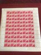 FRANCE 1948 FEUILLE COMPLETE 817 BARRAGE DE GENISSIAT PLANCHE ANTIERE VENDUE 35 % DE LA COTE - Feuilles Complètes
