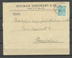 ESTLAND Estonia 1919 Michel 2 As Single Briefvorderseite Mit Klappe COVER FRONT (backside Missing) - Estland