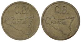 04288 GETTONE TOKEN JETON FICHA SALA GIOCO C. B. PALERMO SICILIA - Non Classificati