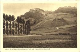 CPA DE CHATEAU-CHALON  (JURA)  DEPUIS LA VALLEE DE BAUME - Autres Communes