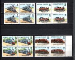 TOGO N° PA 527 à 530 EN BLOCS DE QUATRE NEUFS SANS CHARNIERE COTE  84.00€  TRAIN - Togo (1960-...)
