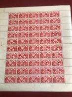 FRANCE 1948 FEUILLE COMPLETE 818  819 ASSEMBLEE GENERALE DES NATIONS UNIES PARIS PLANCHE ANTIERE VENDUE 35 % DE LA COTE - Full Sheets