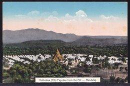 MANDALAY - BURMA --- PAGODAS FROM THE HILL  ! - édit. Ahuja Rangoon - Perfect! - Myanmar (Burma)
