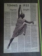 1935 M TENNIS FEMININ SUZANNE LENGLEN - Vieux Papiers