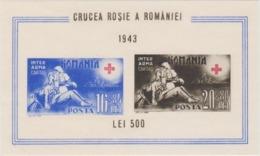 ROUMANIE 1 Bloc Feuillet Xx Surcharge 1943 - Croix Rouge - Red Cross Crucea Rosie - Rode Kruis