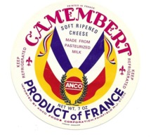 ETIQUETTE De FROMAGE...CAMEMBERT Product Of FRANCE..ANCO - Kaas