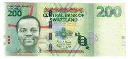 Swaziland 200 Emalangeni 07/01/2014 UNC .PL. - Swaziland
