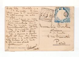 Sur CPA D'Isola Bella Pour Paris CAD Solarella 1912. Cachet Hôtel Du Dauphin D'Isola Bella. (2535x) - Poststempel - Freistempel