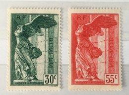 Timbre France YT 354 355 Neuf Sans Gomme 1937 Victoire De Samothrace (côte 100 Euros) – 259d - France