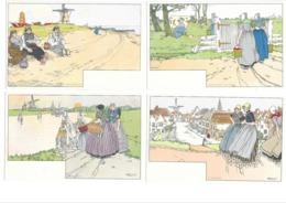 CPA 12 CASSIERS SERIE OMSTREKEN VAN MIDDELBURG ART NOUVEAU - Illustratori & Fotografie