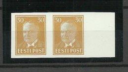 Estland Estonia 1938 Michel 136 U Proof Probedruck As Pair MNH - Estland