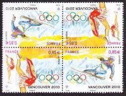 France Jeux Olympiques N° 4436 P ** X2 -> Hiver 2010 à Vancouver - Ski - Patin à Glace - Danse - Winter 2010: Vancouver