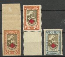 Estland Estonia 1921 Michel 29 - 30 A + 29 B MNH Nice Margins ! - Estland
