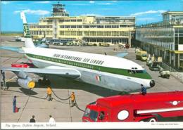 CARTE POSTALE AVIATION APRON DUBLIN AIRPORT AIRPLANE PADRAIG IRISH AER LINGUS - Aerodrome