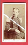 PHOTOGRAPHIE CDV MILITAIRE D ETAT MAJOR PHOTOGRAPHE H. VAUVRAY A MELUN SEINE ET MARNE - Guerre, Militaire