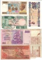 Africa Lot 6 Banknotes - Bankbiljetten