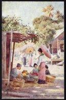 BIRMA - BURMA --- A BURMESE VILLAGE STREET  ! - édit. TUCK'S OILETTE POST CARD -  - Perfect! RARE !!! - Myanmar (Burma)