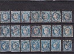 Timbre France Emission De Bordeaux Et IIIème République Carton De 21 Timbres° - 1862 Napoléon III