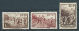 FRANCE 1937 . N°s 345 , 346 Et 347 Oblitérés . - France