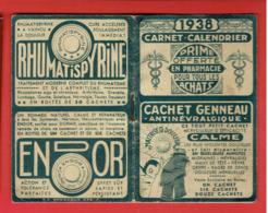 CARNET CALENDRIER 1938 PRIME OFFERTE EN PHARMACIE - Klein Formaat: 1921-40