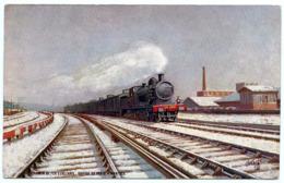 EXPRESS TRAIN : CHEMIN DE FER D'ORLEANS - RAPIDE DE PARIS A NANTES (TUCK'S OILETTE) - Trains