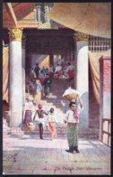 BIRMA - BURMA --- THE PAGODA STEPS RANGOON ! - édit. TUCK'S OILETTE POST CARD -  - Perfect ! RARE !!! - Myanmar (Burma)