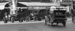 LOT DE 8 PHOTOS AVEC NEGATIFS + 2 NEGATIFS SEUL + POCHETTE - DEAUVILLE ANNEE 1929 / 1931 - VOITURES,RUE,PLAGE. - Places