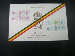 """BELG.1973 B10 & B11 (1700/1702) FDC Echophil Card N°1414: """" Carnets/Boekjes """" - FDC"""