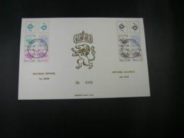 """BELG.1973 B12 & B13 (1762/1764) FDC Echophil Card N°0162: """" Carnets/Boekjes """" - FDC"""