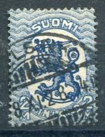 FINLAND 1928 Lion 2 Markka With Posthorn Watermark Reversed, Used.  Michel 133 X B €360 - Gebraucht