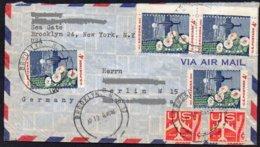 USA 1962  MiNr. 821 (4x) ; 50 Jahre Staat Arizona, Riesen- Saguara- Kaktus  ; Brief/letter Nach Westberlin - Sukkulenten