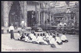 BIRMA - BURMA -- RANGOON - MORNING PRAYER AT SHWE DAGON PAGODA - Perfect ! RARE !!! édit. Klier Rangoon - Myanmar (Burma)