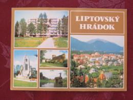 """Czechoslovakia 1981 Postcard """"Liptovsky Hradok Multiview"""" To Chomukov - No Stamps - Covers & Documents"""