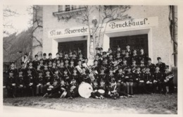 Freiwillige Feuerwehr - Musikkapelle Bruckhäusl Kirchbichl - Gruppenfoto Ca 1940 - Österreich