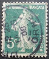FRANCE Type Semeuse N°137d Oblitéré - 1906-38 Säerin, Untergrund Glatt