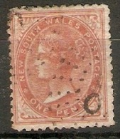 NEW SOUTH WALES 1864 1d BROWNISH-RED SG 197  FINE USED Cat £11 - Usados