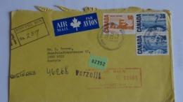CANADA -1971 -  Cover From WINNIPEG To WIEN By Air Mail  - Registered In Toronto + Verzollt In WIEN - Brasile