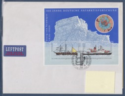 = Navire De Recherche Antarctique Gauss Et Polarstern, Bloc Allemagne 2 Timbres, 8.11.2001 - Polar Ships & Icebreakers