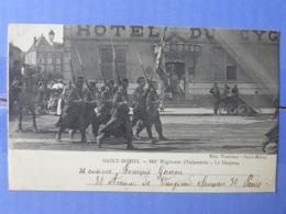 CPA (55) Meuse - SAINT MIHIEL - 161è Régiment D'Infanterie - Le Drapeau  - Hotel Du Cyg... - Saint Mihiel